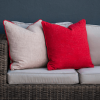 red scatter cushion set